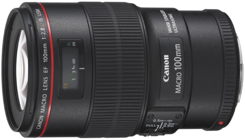 Объектив Canon EF 100mm f/2.8 L Macro IS USM Black
