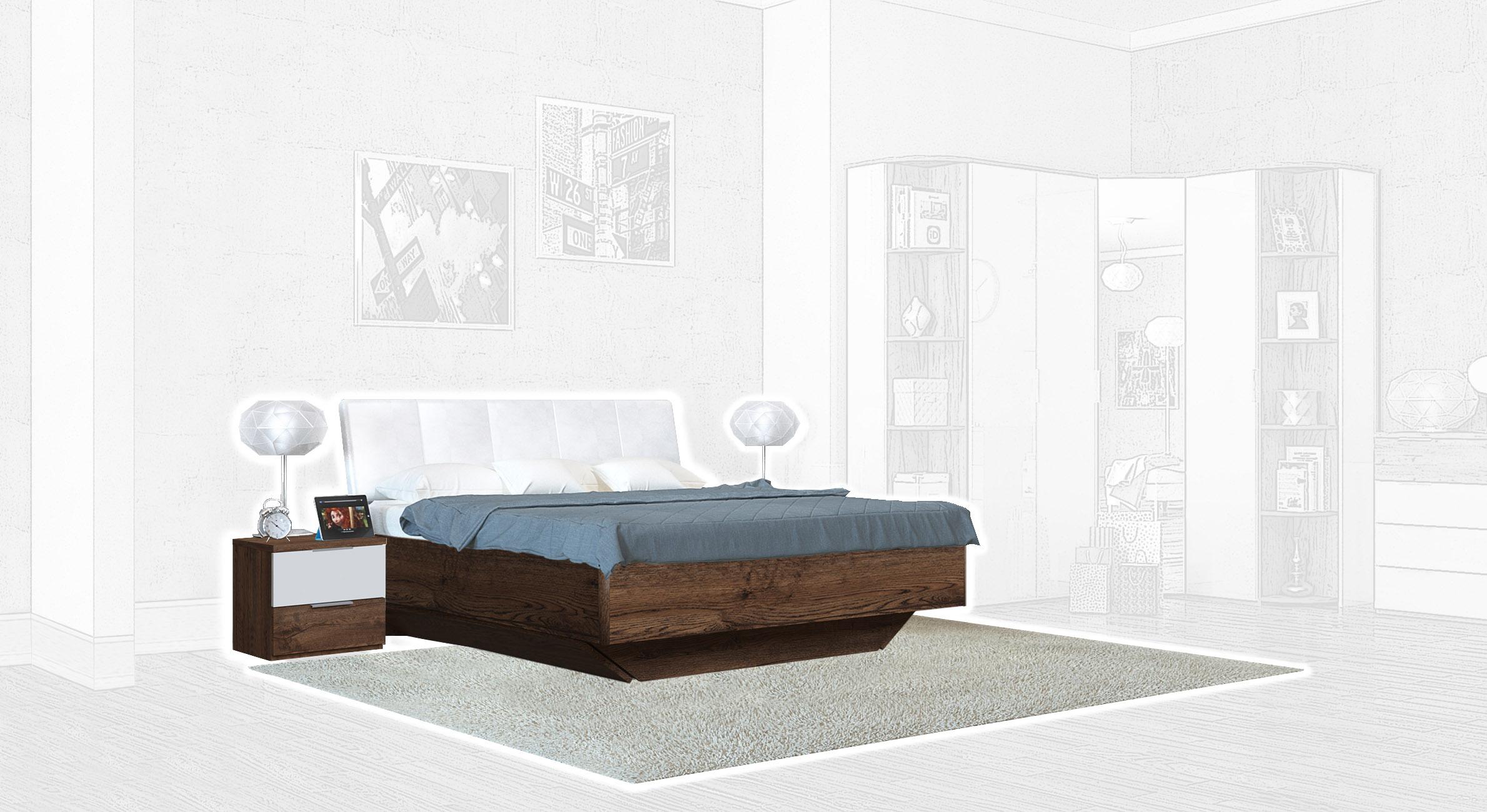 Спальня Интердизайн Тоскано темно-коричневый/белый (композиция 1)