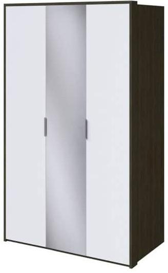 Шкаф Интердизайн Тоскано ясень темный/белый 2209x1420x599 см (с зеркалом)