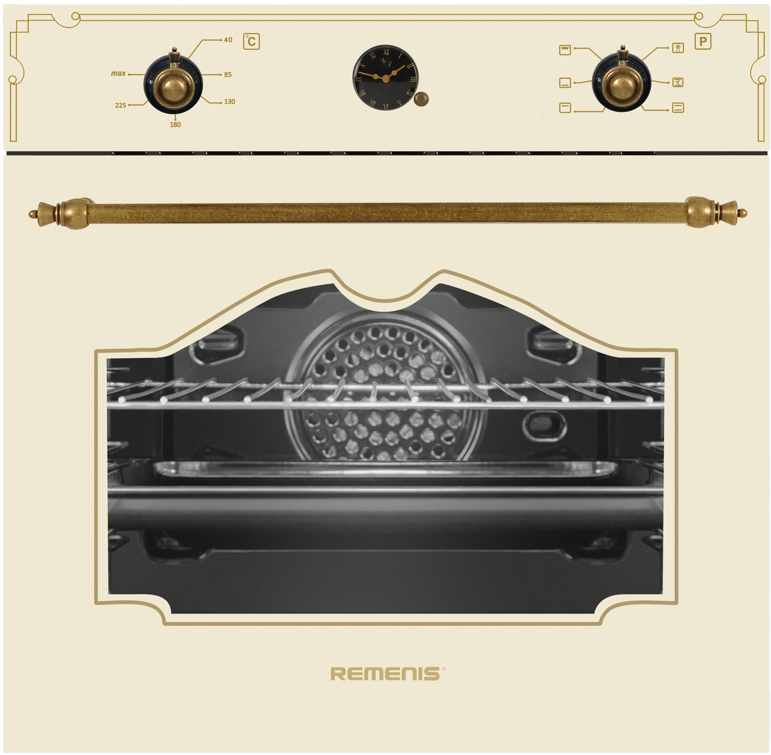 Духовой шкаф Remenis REM-2306 Beige