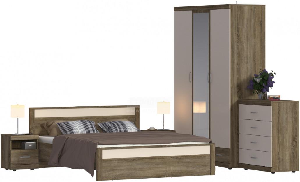 Спальня Столплит Монако 121-414-243-4453 дуб сонома трюфель/бежевый песок