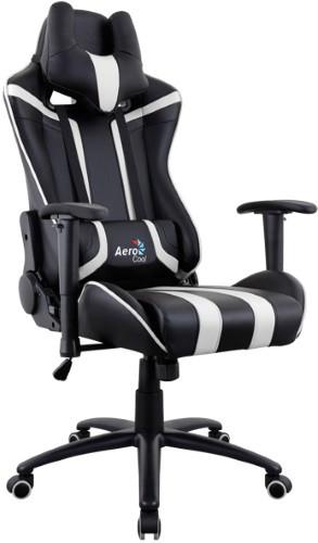 Игровое кресло Aerocool AC120 AIR-BW черный/белый