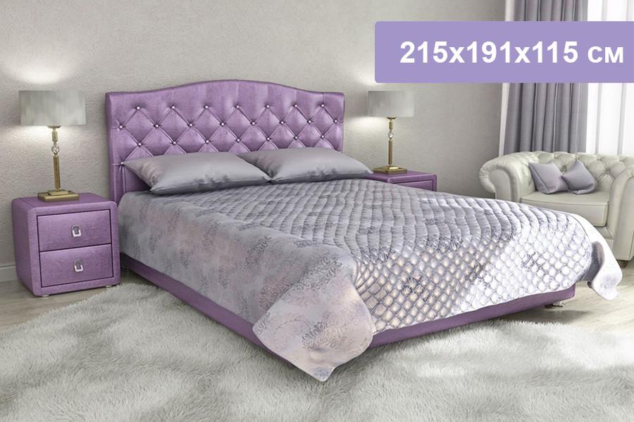 Двуспальная кровать Цвет Диванов Елизавета Н фиолетовый 215x191x115 см