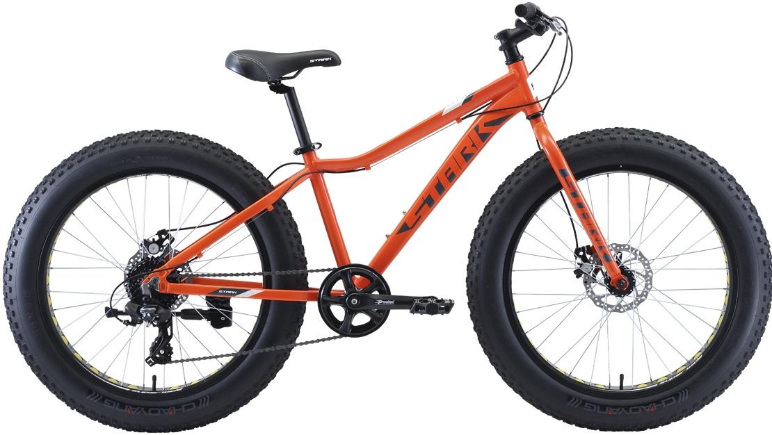 """Велосипед Stark Rocket Fat 24.2 D (2020) оранжевый/серый/белый 24""""/-"""