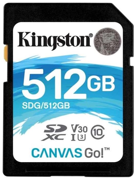 Kingston Canvas Go! SDXC 512Gb Class 10…