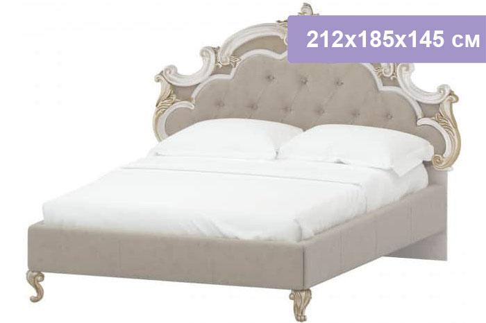 Двуспальная кровать Интердизайн Медея бежевый/бежевый 212x185x145 см (ортопедическое основание)