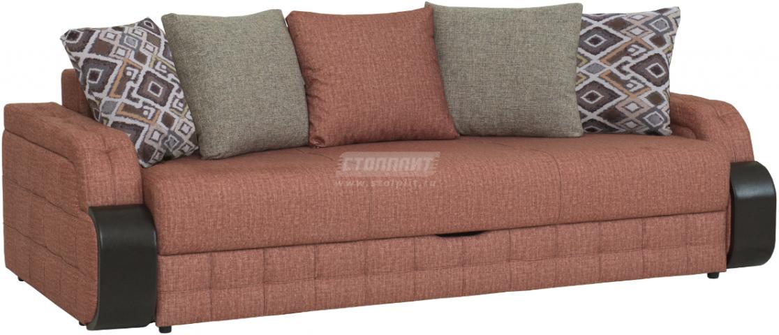 Диван-кровать Столплит Антей БД терракотовый 243x111x89 мм