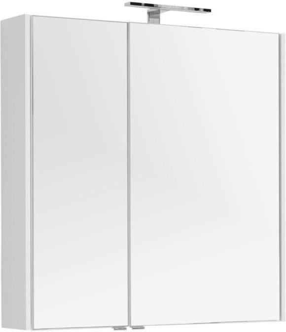 Зеркало-шкаф Aquanet Августа 90 белый 90x90x16 см