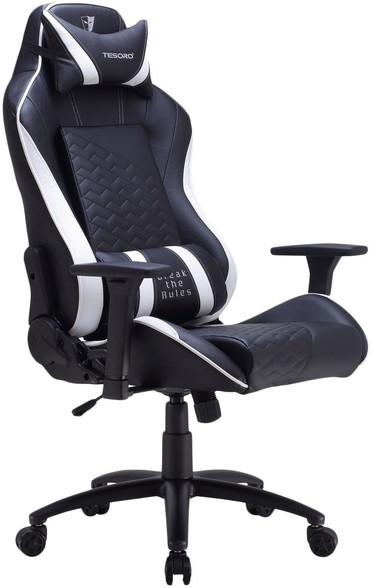 Игровое кресло Tesoro Zone Balance F710 черный/белый
