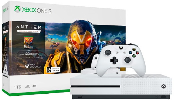 Игровая приставка Microsoft Xbox One S 1Tb White + Anthem: Legion of Dawn Edition