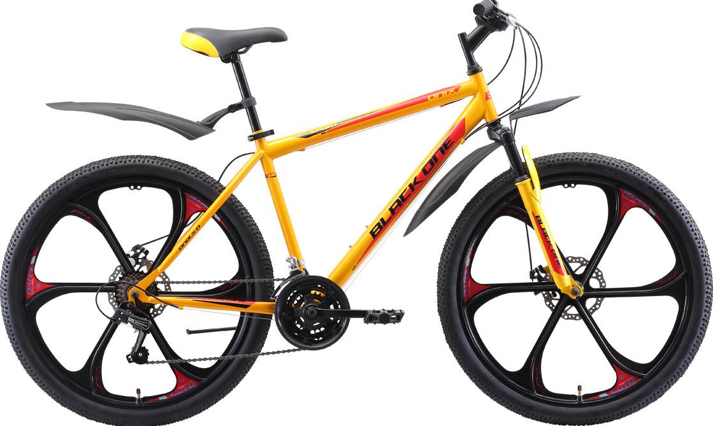 """Велосипед Black One Onix 26 D FW (2020) жёлтый/чёрный/красный 26""""/20"""""""