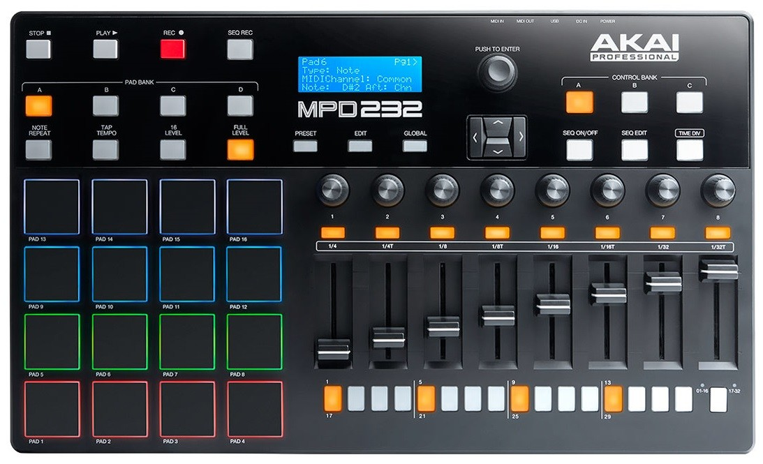 Dj-контроллер Akai MPD232