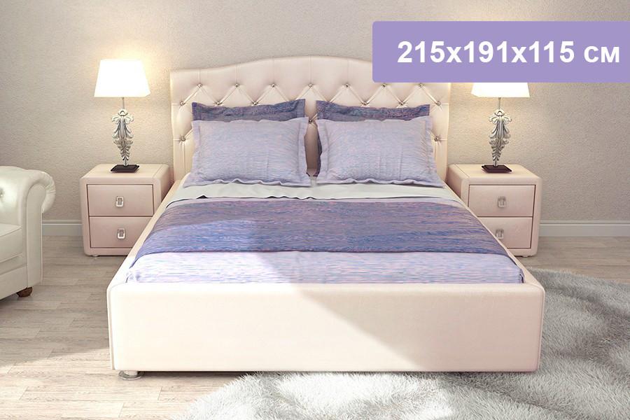Двуспальная кровать Цвет Диванов Елизавета Н розовый 215x191x115 см