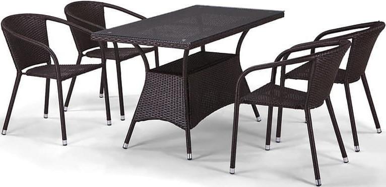 Комплект мебели Афина-Мебель T198D/Y137C-W53 коричневый