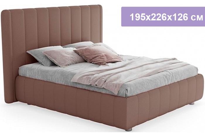 Двуспальная кровать Цвет Диванов Наоми капучино 195x226x126 см (подъемный механизм)