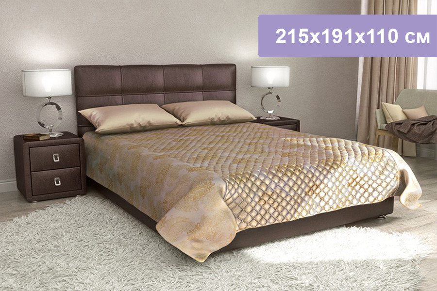 Двуспальная кровать Цвет Диванов Юлиана Н коричневый 215x191x110 см (подъемный механизм)