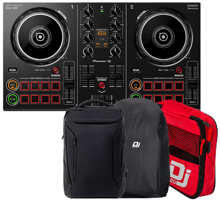 Dj-контроллер Pioneer DDJ-200 + DJ-BAG Urban BackPack с аксессуарами