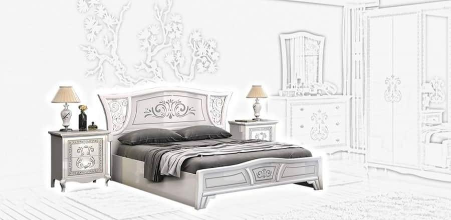 Спальня Интердизайн Винтаж белый/белый (композиция 1)