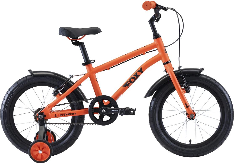 """Велосипед Stark Foxy 16 Boy (2020) оранжевый/голубой/черный 16""""/-"""