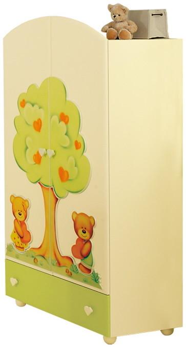 Шкаф Baby Expert Cuore кремовый/зеленый