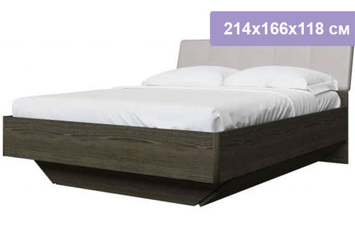 Двуспальная кровать Интердизайн Тоскано ясень темный/капучино 214x166x118 см (ортопедическое основание)