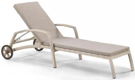 Шезлонг-лежак Афина-Мебель A35C2-W85 латте (матрас)