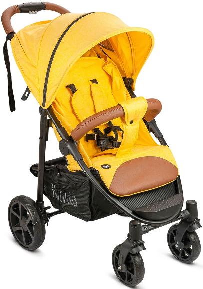 Коляска Nuovita Corso желтый/черный