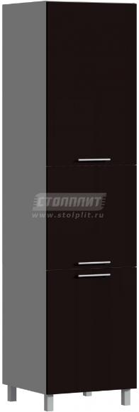 Пенал Столплит Анна 301-360-360-0991 шоколад глянец 60x237x56 см