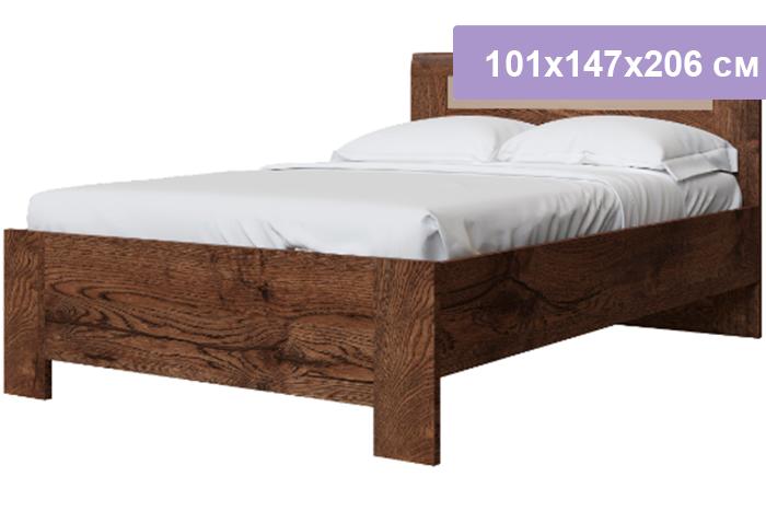 Полутороспальная кровать Интердизайн Тоскано Лайт темно-коричневый/коричневый 101x147x206 см (ортопедическое основание)