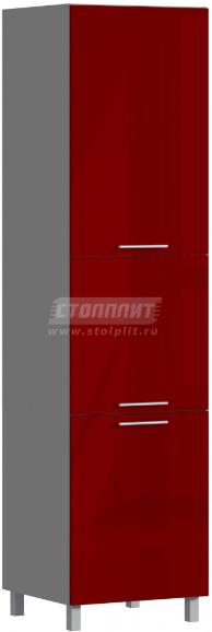 Пенал Столплит Анна 301-360-360-0995 рубин глянец 60x237x56 см