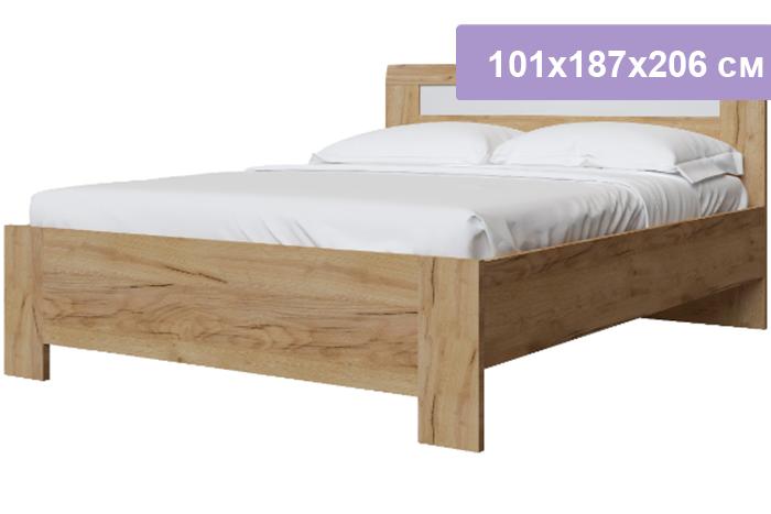 Двуспальная кровать Интердизайн Тоскано Лайт дуб крафт/белый 101x187x206 см