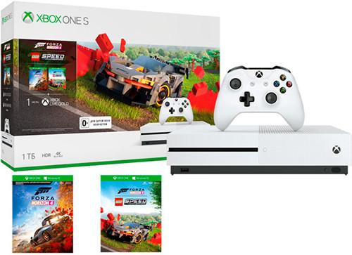 Игровая приставка Microsoft Xbox One S 1Tb + Forza Horizon 4 + Lego Speed Champions