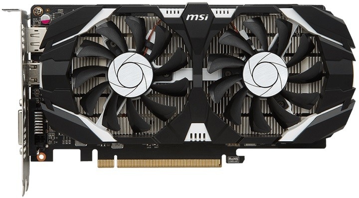 Видеокарта MSI GeForce GTX 1050 Ti 4GT OC 4Gb