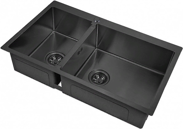 Кухонная мойка Zorg PVD 78-2-51-R Grafit