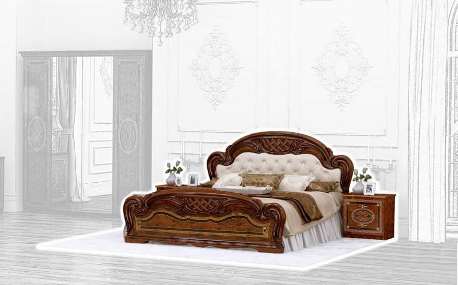 Спальня Интердизайн Лара орех коричневый/коричневый (композиция 1)