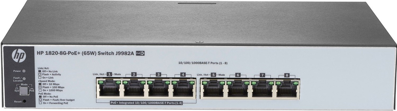 Коммутатор HP 1820-8G-PoE+ 65W