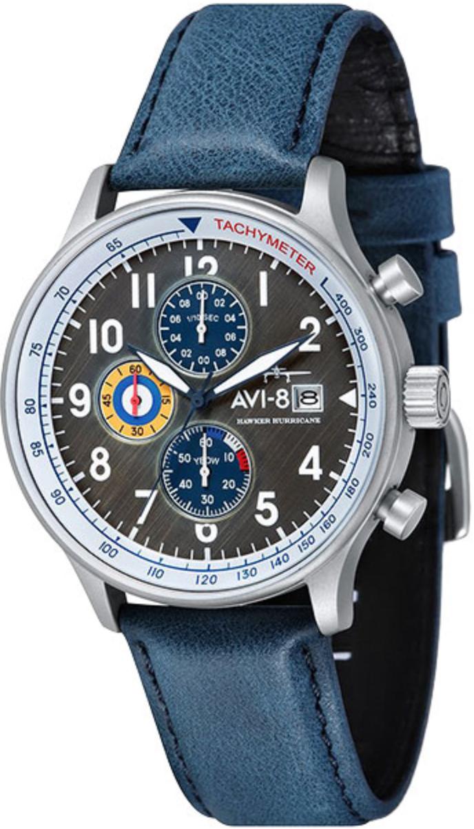 Наручные часы AVI-8 Hawker Hurricane AV-4011-0F серый/синий