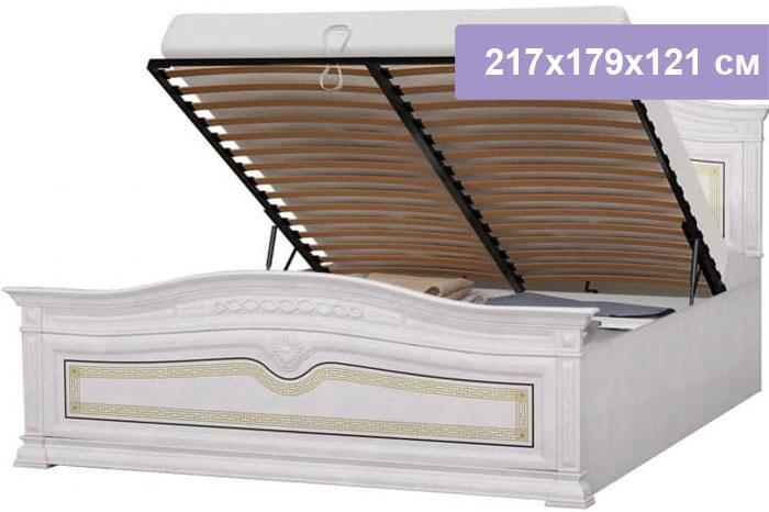 Двуспальная кровать Интердизайн Версаль бежевый/бежевый 217x179x121 см (подъемный механизм)