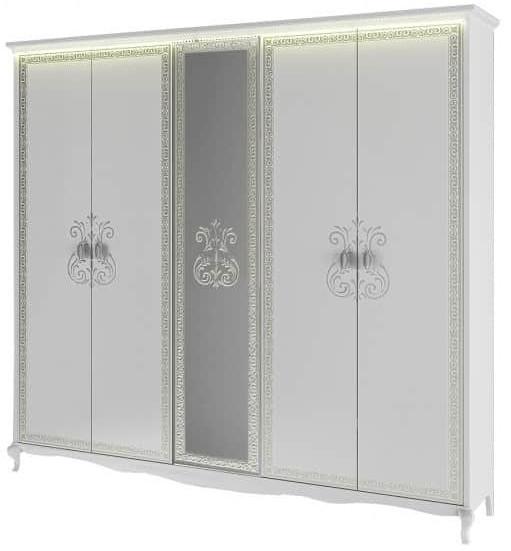 Шкаф Интердизайн Винтаж белый/белый 2300x2380x639 см