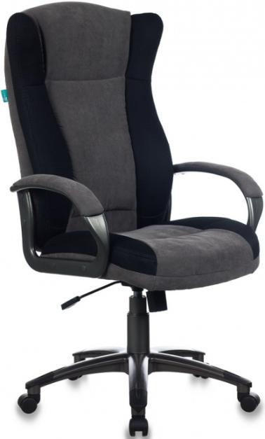 Кресло руководителя Бюрократ CH-879N/DG/F-C черный/серый