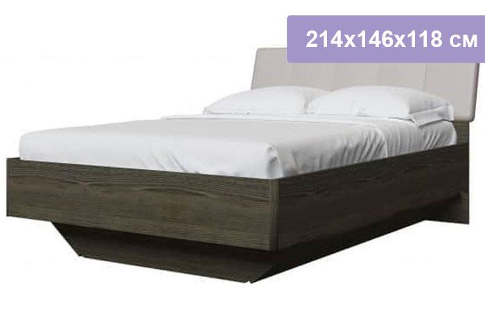 Двуспальная кровать Интердизайн Тоскано ясень темный/капучино 214x146x118 см (ортопедическое основание)