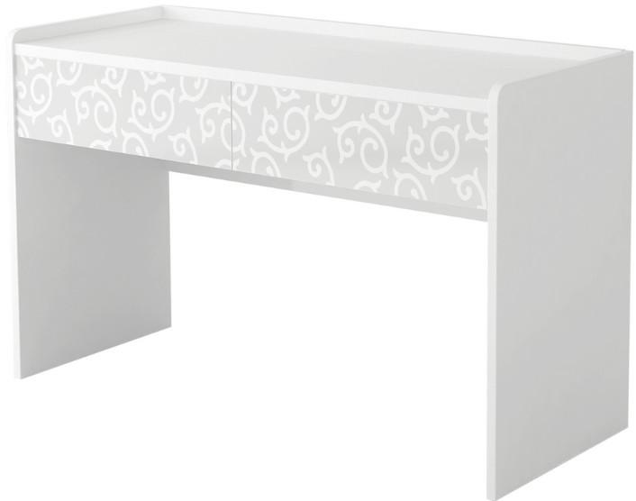 Туалетный столик Интердизайн Белла белый/белый 82x110x50 см (с рисунком)