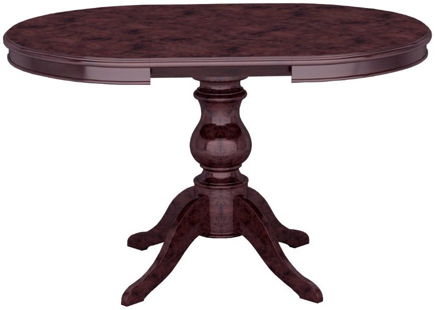 Кухонный стол Интердизайн Роза темно-коричневый/темно-коричневый 820x1330x950 см