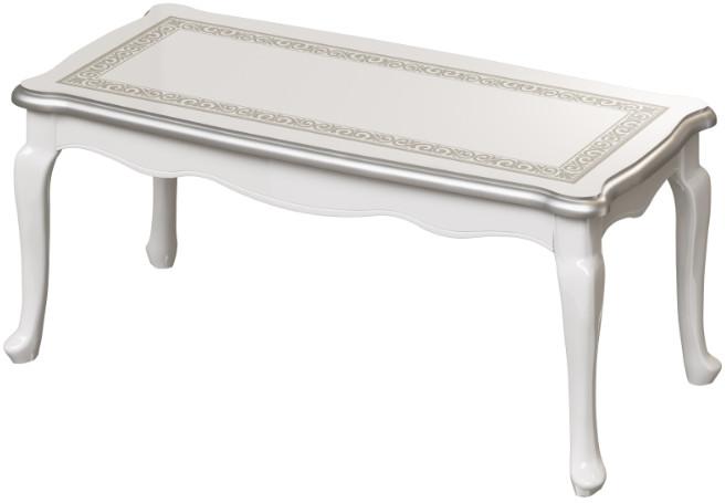 Журнальный столик Интердизайн Винтаж белый/белый 48x113x53 см (с рисунком)