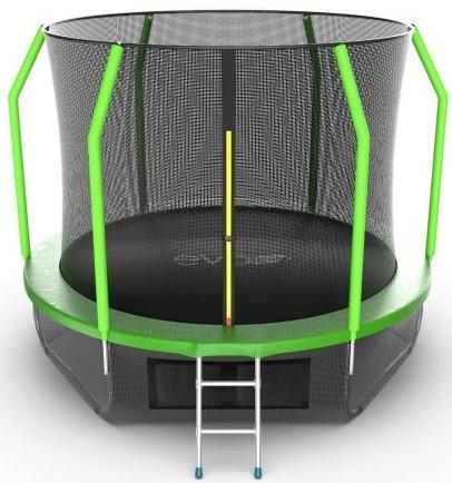 Батут Evo Jump Cosmo 10FT Green (с внутренней и нижней сеткой, лестницей)