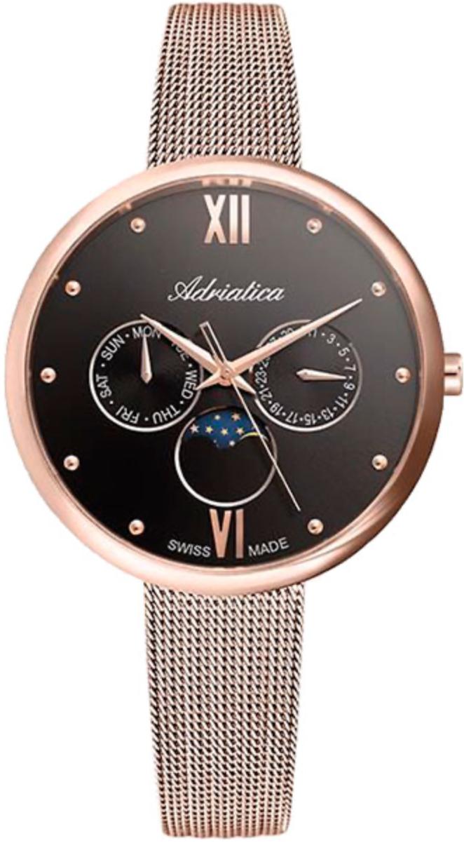 Наручные часы Adriatica Milano A3732 черный/стальной