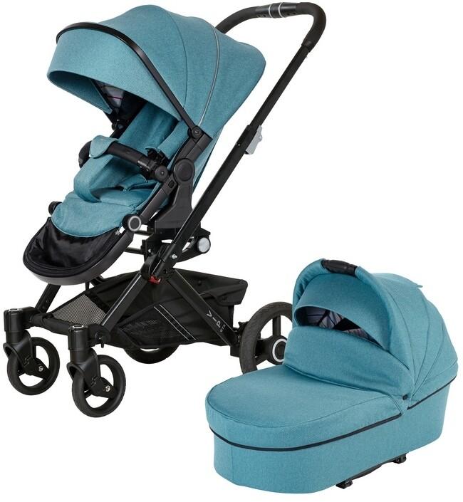 Коляска Hartan VIP GTX XL 510 2в1 Turquoise (без сумки)