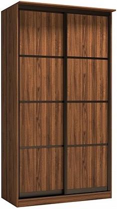 Шкаф-купе Цвет Диванов Тибр К-2 орех каннеро 125x60x234 см (двухдверный)