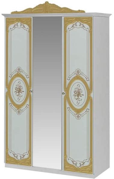 Шкаф Интердизайн Роза белый/золото 2305…