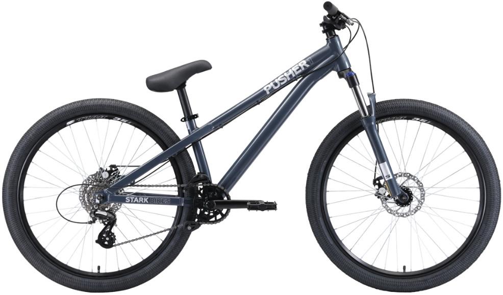 "Велосипед Stark Pusher 1 (2020) серый/серебристый 26""/S"